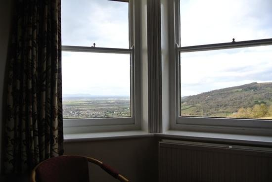 The Rising Sun Hotel:                                     The view from room 17