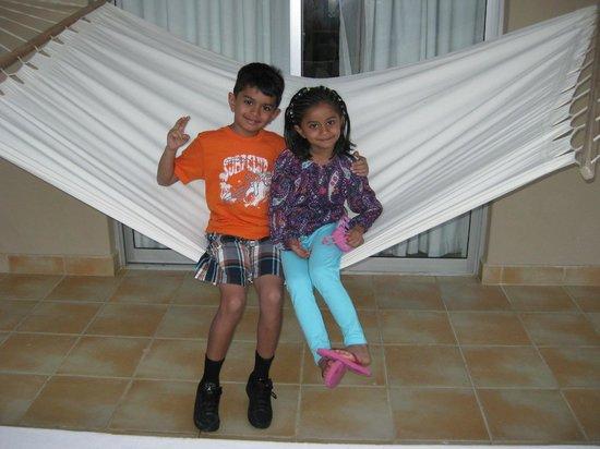 Dreams Palm Beach Punta Cana:                   KIDS IN BALCONY SWING