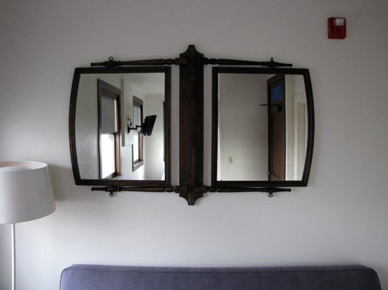 Commodore Hotel:                   vintage mirrors taken from original hotel dressers