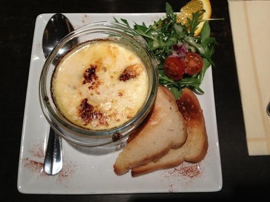 Instants Gourmands : œuf cocotte au maroilles