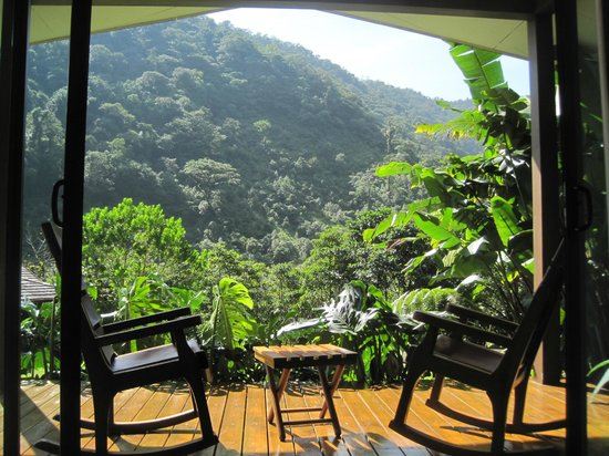 El Silencio Lodge & Spa:                                                       View from our bed