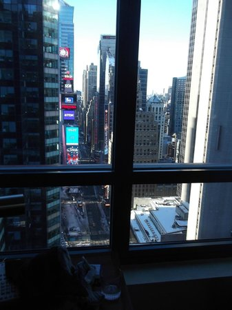 DoubleTree Suites by Hilton Hotel New York City - Times Square:                                     times square from lounge window 2