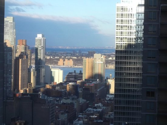 DoubleTree Suites by Hilton Hotel New York City - Times Square:                                     view of hudson river from 3401