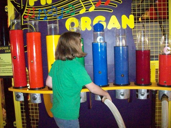 Adventure Science Center:                                     There's a vacuum that makes the organ play