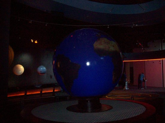Adventure Science Center:                                     This changes from the Earth to the Sun.