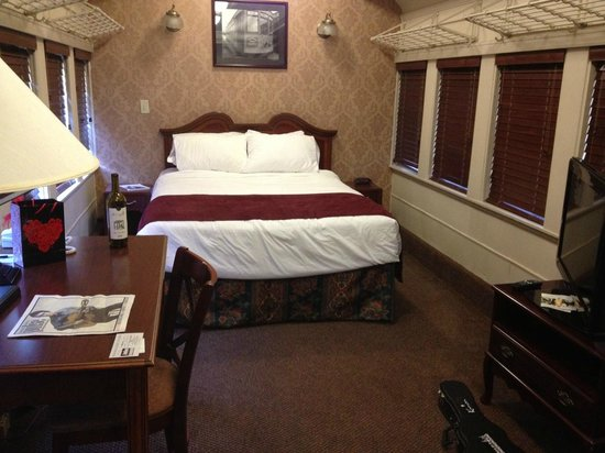 Chattanooga Choo Choo:                   very spacious rooms in the train cars