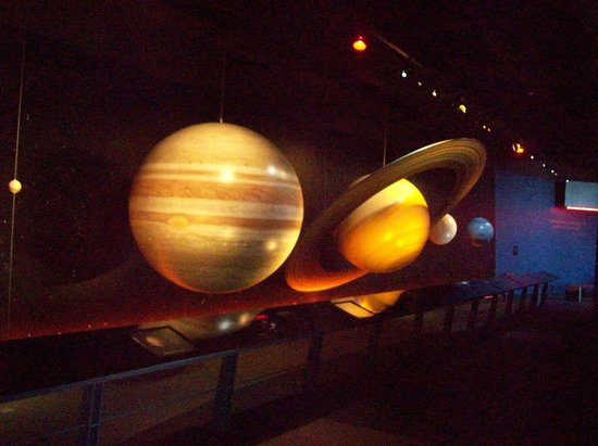 Adventure Science Center:                                     The planets.