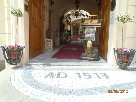 Alchymist Grand Hotel & Spa:                                                       Entrance to this magnificent - personal ho