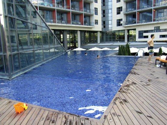 โรงแรมพูลแมน บาร์เซโลน่า สกิปเปอร์:                   courtyard/garden level pool