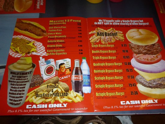 A Burger a Day: Single Bypass Burger at The Heart Attack Grill ...