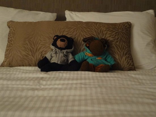 Schooner's Cove Inn:                   Marty & Gil enjoying the comfy bed