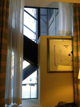 Hampton Inn & Suites Milwaukee Downtown:                   Fire escape butts right up to the windows in this room.