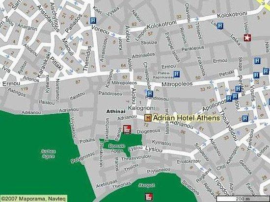 Adrian Hotel: Map
