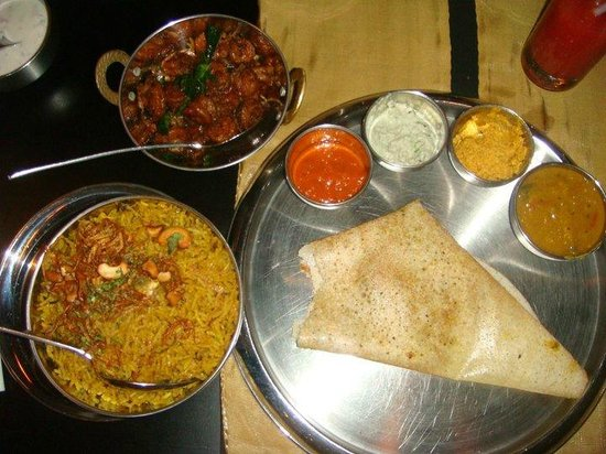 Chutneys At Cinnamon Grand Colombo :                   Dosa, Biryani and Side dish