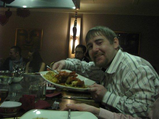 Tippenyaki:                   my son Paddy Kennedy enjoying the Valentine evening