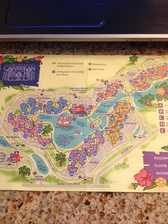 Map of Resort - Picture of Disney\'s Caribbean Beach Resort, Orlando ...