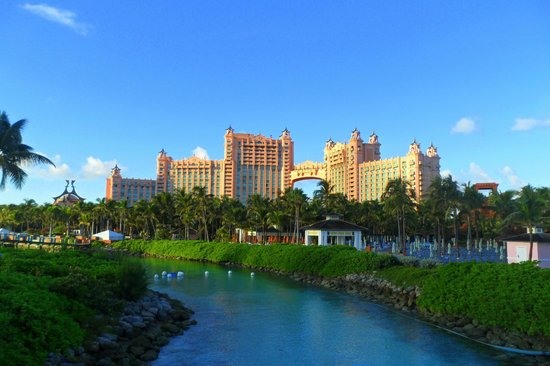 The Reef Atlantis, Autograph Collection:                                     View of Royal Towers from Predator Lagoon
