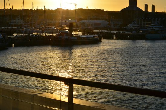 Auckland Waterfront Serviced Apartments:                   Sunset shot