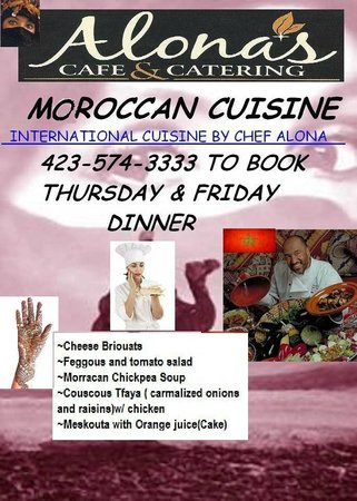 Cafe Alona: International Menu For Friday & Saturday Night