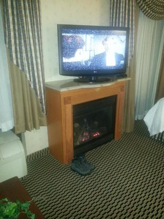 Hampton Inn & Suites Manchester - Bedford:                   Very cozy fireplace suite
