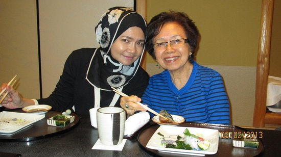 Kyubey Main Restaurant:                                     Enjoying the Sushi
