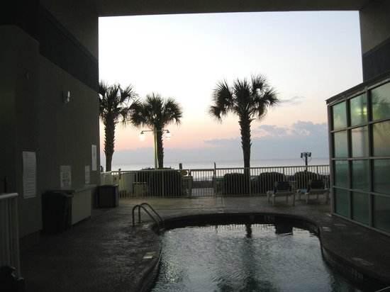 Carolinian Beach Resort:                   February Sunrise As Seen From Pool