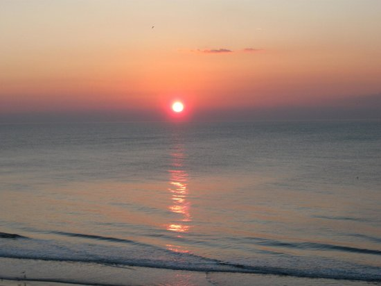 Carolinian Beach Resort:                   February Sunrise From Room Balcony