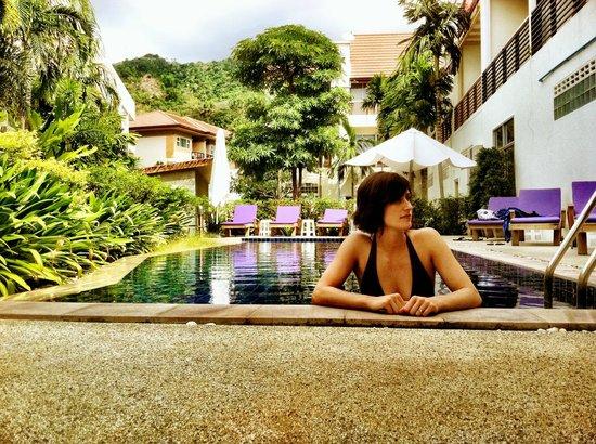 Kata Beach Center Hotel:                   Quiet pool area.
