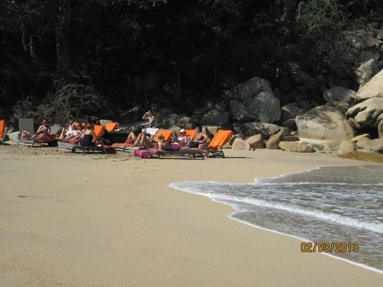 Xinalani Retreat:                   Lounging at the beach.