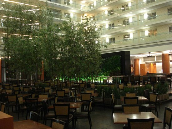 Embassy Suites by Hilton Chicago Downtown Magnificent Mile: Granite wall and dining area