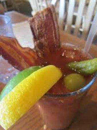 Haywood Cafe: BACON bloody mary!!!