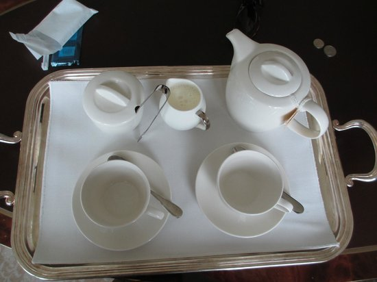 The St. Regis Singapore:                   Tea tray from buttler service