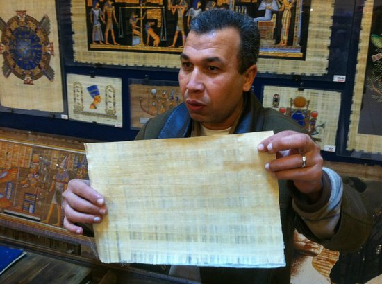 Egypt Papyrus Museum:                                                       Papyrus demonstration