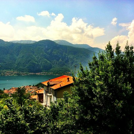 Lago di Como:                   The view from the Walnut Tree bed and breakfast.