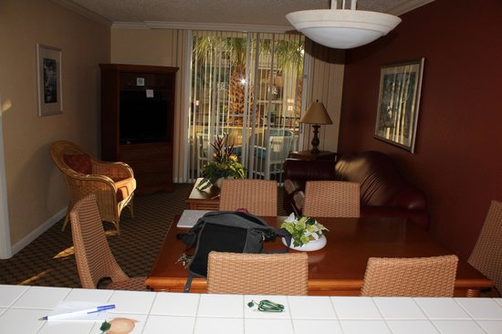 Blue Tree Resort at Lake Buena Vista: Living, dining and balcony in 2 bedroom unit