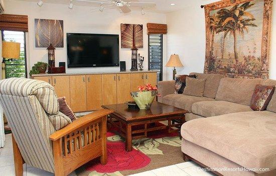 Wailea Ekolu Village Resort: Living Area