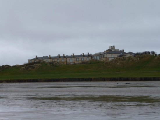 Portmarnock Hotel and Golf Links:                   The hotel from the beach