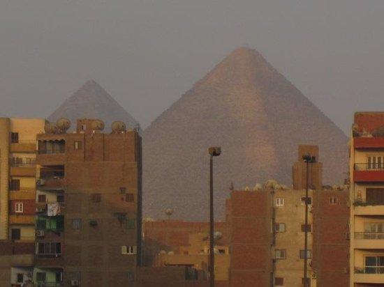 Grand Pyramids Hotel:                   View of the pyramids