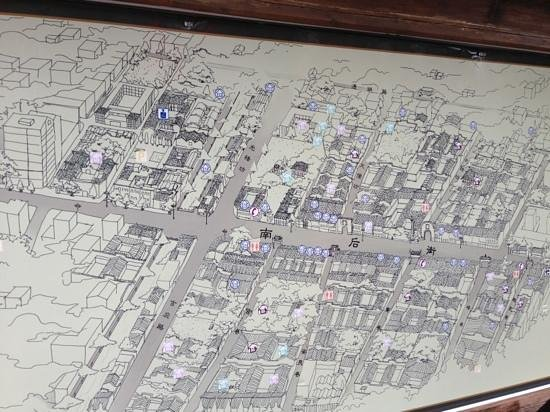 Architectural buildings of Sanfang Qixiang and Zhuzi Workshop: map