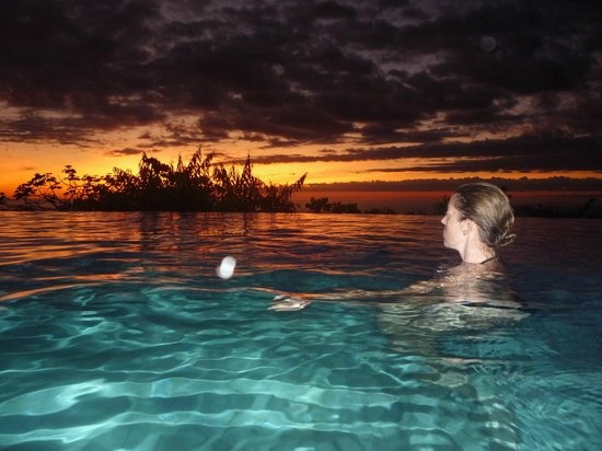 La Mariposa Hotel:                   Sunset in the Pool