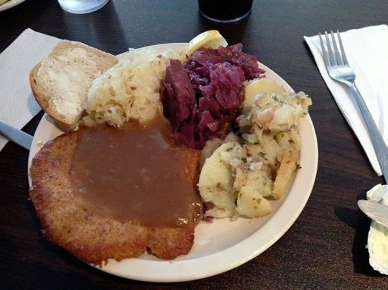 Ingrid's Kitchen:                   lite portion of Wiener schnitzel plate