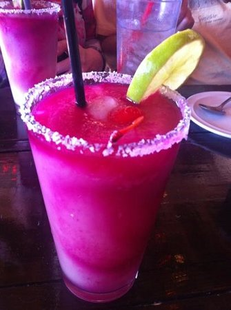 Historic Texas Foodie Tour:                   prickly pear margarita from Luthor's