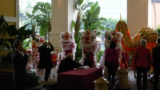 Wynn Macau: Lion Dances at Wynn during CNY