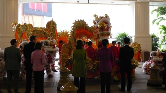 Wynn Macau: Dragon and Lion Dances at Wynn during CNY