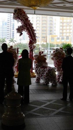 Wynn Macau: Lion Dance performance at Wynn