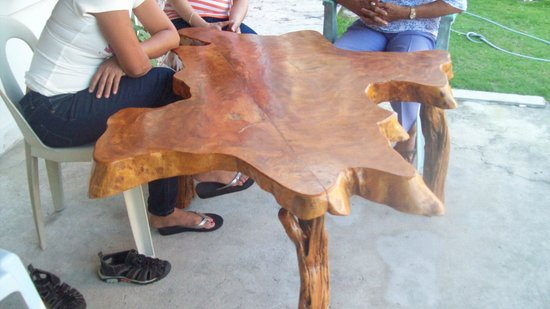 South Town Room and Board:                                     Unusual Table in the Front Garden of Southtown