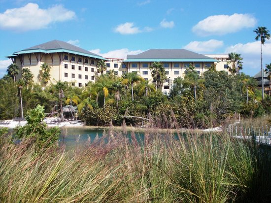 Loews Royal Pacific Resort at Universal Orlando:                   Main resort buildings