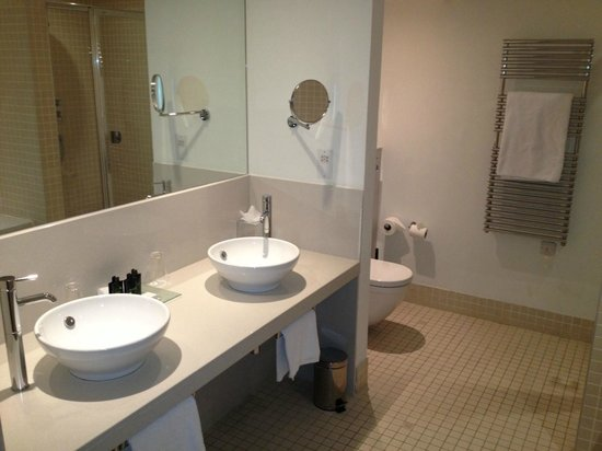 The Gibson Hotel:                   Junior suite bathroom (double shower and huge bath)
