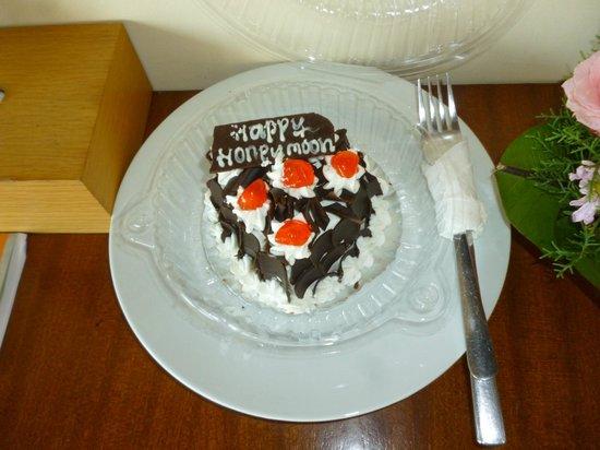 Biyukukung Suites and Spa: tarta de bienvenida