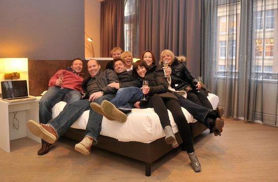 Hotel Amsterdam - De Roode Leeuw:                   Our corner suite